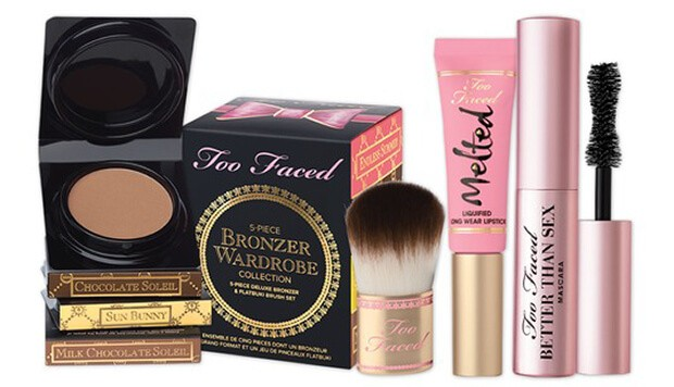 Too Faced cosmetics offerings